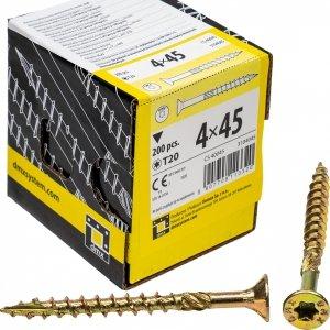 Wkręty ciesielskie TX 4x45 do drewna osb 200szt