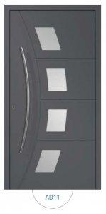 Drzwi wejściowe zewnętrzne Aluprof MB86 wzór AD11
