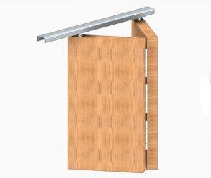 Zestaw okuć + szyna drzwi łamanych APOLLO 2/756mm