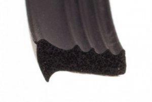 Uszczelka SD34 13,5x6,4 samoprzylepna do szkła czarna 100m