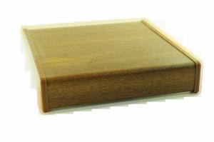 Parapet wewnętrzny plastikowy PCV złoty dąb 400mm 1mb