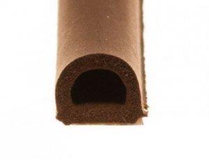 Uszczelka D 9x7,4 samoprzylepna brąz (SD-1) 100m