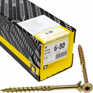Wkręty ciesielskie TX 6x80 do drewna osb 200szt