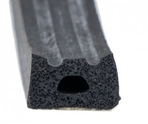 Uszczelka samoprzylepna czarna 10x6 (SD-53) 1m