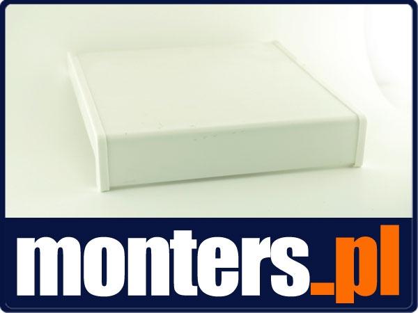 Parapet wewnętrzny plastikowy PCV biały 300mm 1mb