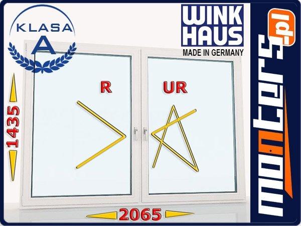 Okno PCV 2065x1435 R+UR prawe białe