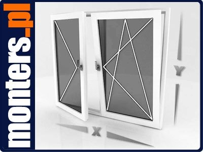 Okno PCV 1765x1135 R+UR prawe białe