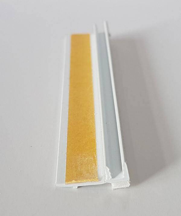 Listwa przyokienna Apu biała bez uszczelki 2,5m