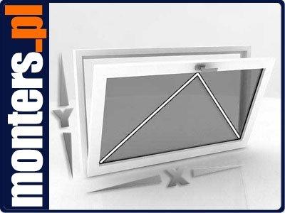 Okno PCV 1165x835 uchylne białe