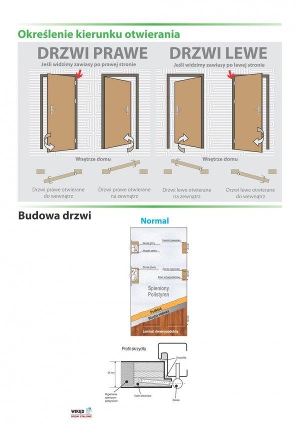 Drzwi wejściowe zewnętrzne Wikęd Premium wzór 37a