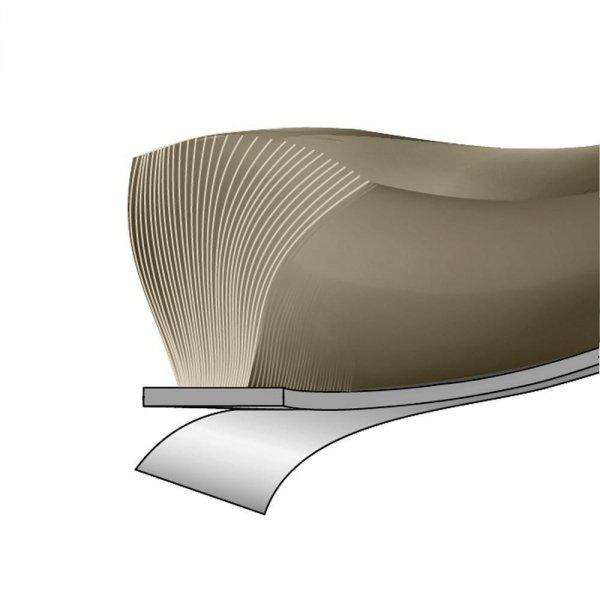 Uszczelka szczotkowa 6,9x12mm samoprzylepna szara 1m