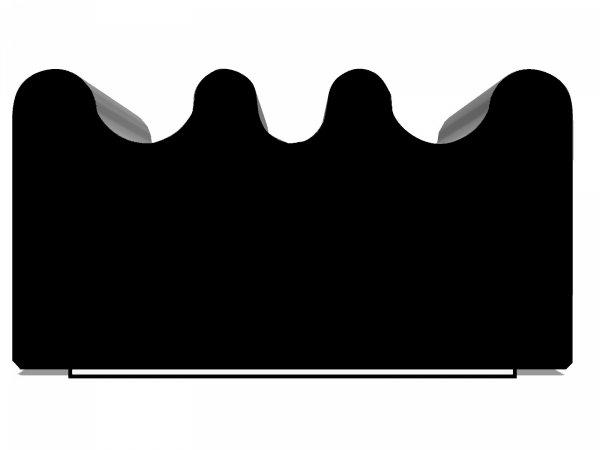 Uszczelka samoprzylepna czarna 15x8 (SD-84) 50m