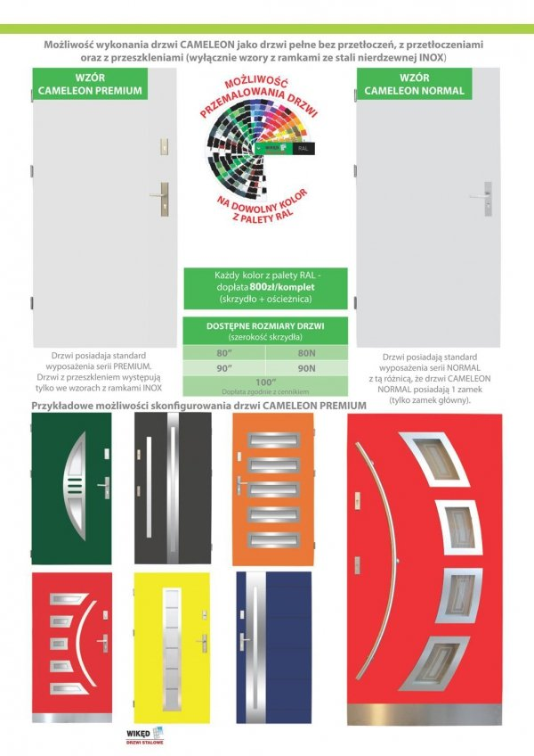 Drzwi wejściowe zewnętrzne Wikęd Premium wzór 31