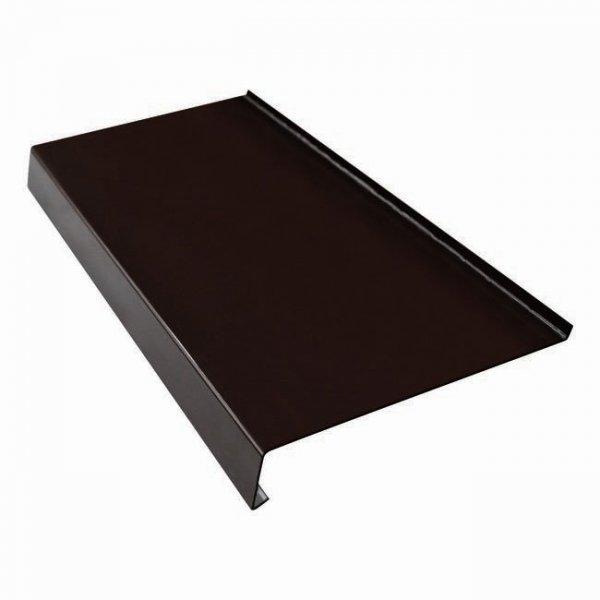 Parapet zewnętrzny stalowy blacha brąz 8019 325mm 1mb