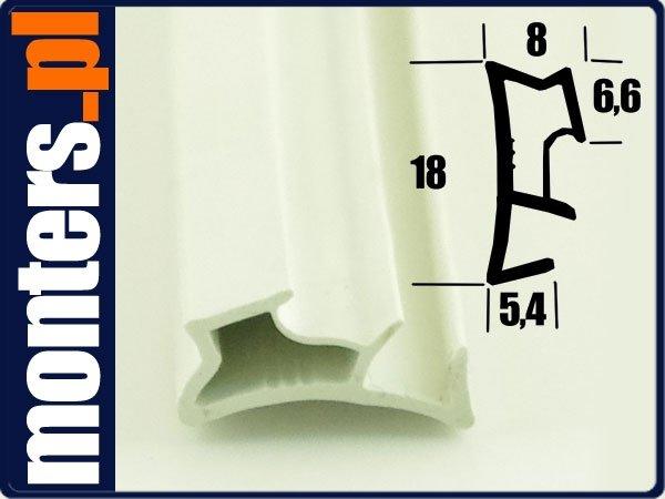 Uszczelka do okien drewnianych KD9 biała 1m.