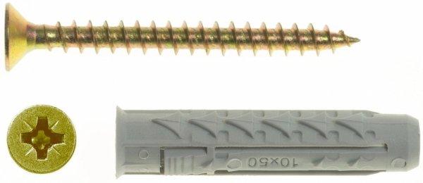 BX8+US4X40/100 Kołek rozporowy BX+wkręt stożkowy