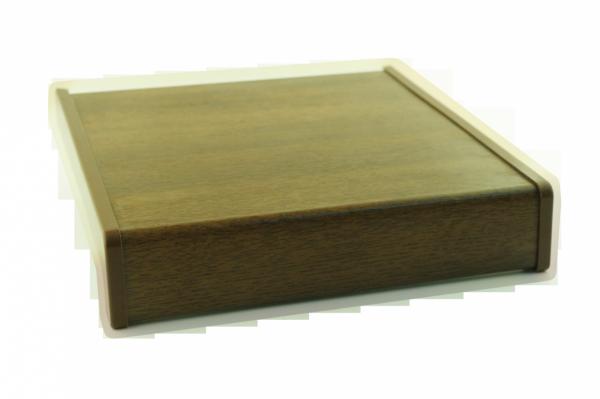Parapet wewnętrzny plastikowy PCV orzech 400mm 1mb