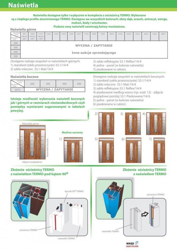 Drzwi wejściowe zewnętrzne Wikęd Premium wzór 31a