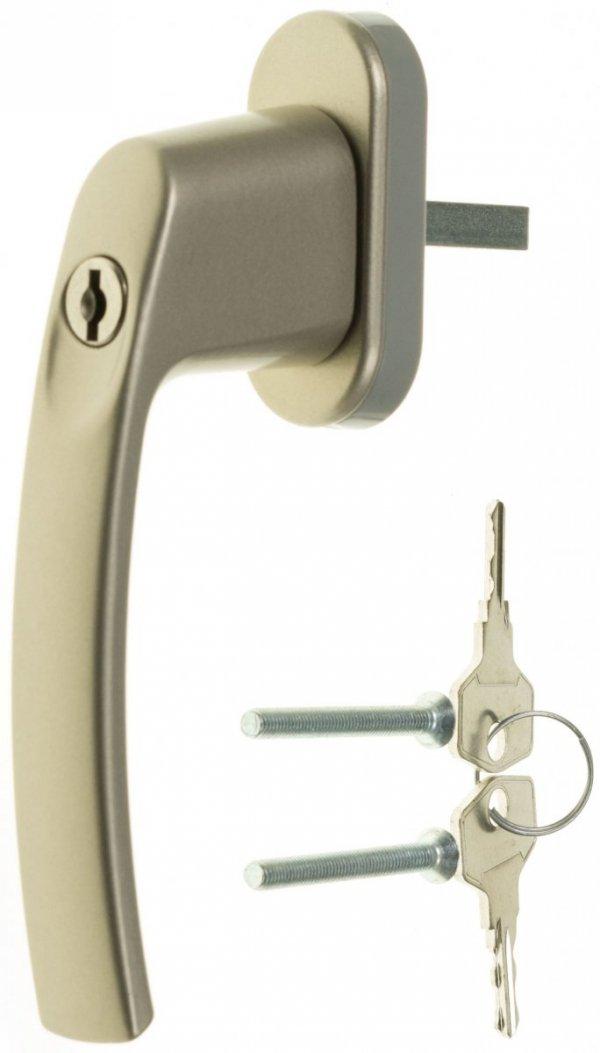 Klamka do okien na kluczyk okienna Onyx srebrna