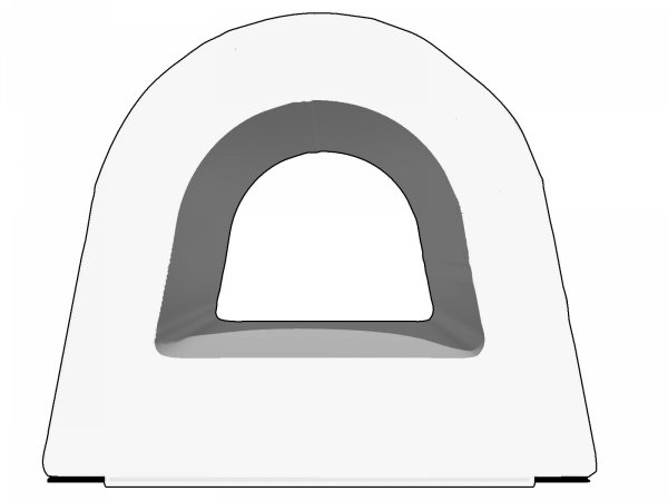 Uszczelka D 14x12 samoprzylepna biała (SD-55) 40m