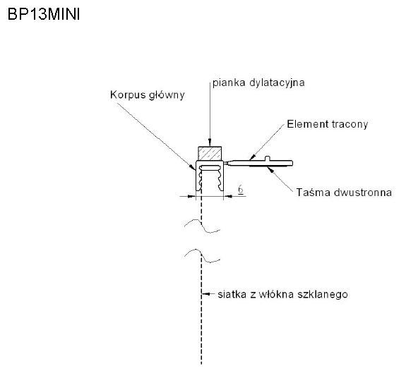 Listwa przyokienna Apu z siatką usz. antracyt 2,5m