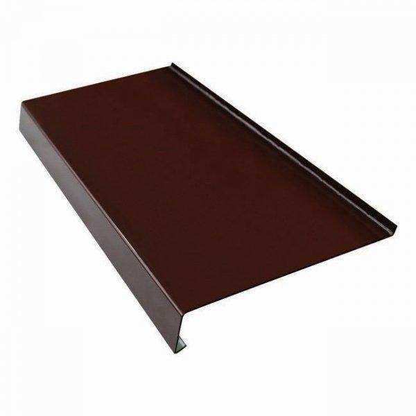 Parapet zewnętrzny stalowy blacha brąz 8017 125mm 1mb