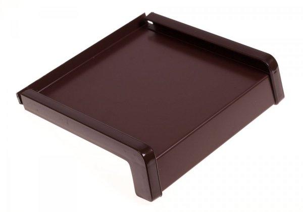 Parapet zewnętrzny stalowy blacha brąz 8017 200mm 1mb