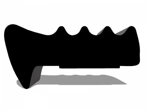 Uszczelka SD34 13,5x6,4 samoprzylepna do drzwi czarna 1m