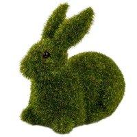 Zając Flokowany Leżący Zielony 10cm [ Komplet 2szt ]