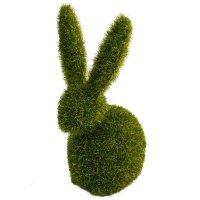 Zając Flokowany Zielony 13cm [ Komplet 2szt ]