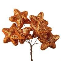 Gwiazdki Brokatowe Miedź [Komplet - 10 Pęczków]