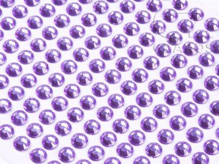 Kryształki samoprzylepne 8mm Wrzos  [10 Blistrów]