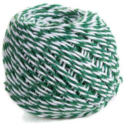 Sznurek Piekarski Zielono Biały ok. 70m [Komplet 12szt]