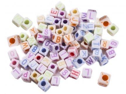 Kolorowe Literki Małe 5mm/100szt [ Zestaw - 20 Kompletów]