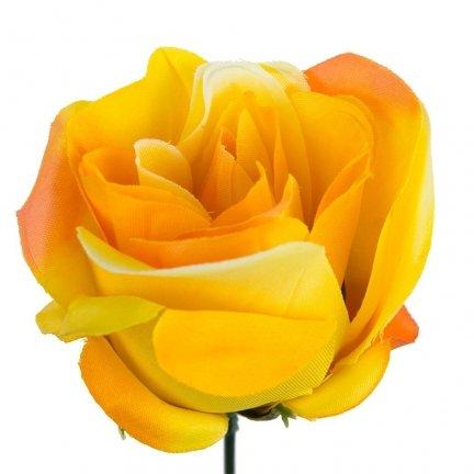 Główka Róża 6cm W141-04 [Komplet - 12sztuk]