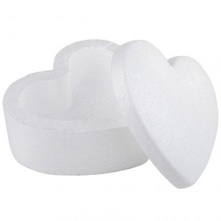 Szkatułka Serce Styropianowa [Komplet - 10 sztuk]