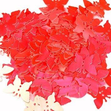 Cekiny Motylki Czerwone - [ Komplet - 20 sztuk]