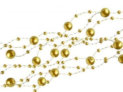 Girlanda Perłowa - Złoto 5szt [ Zestaw - 20 Paczek]