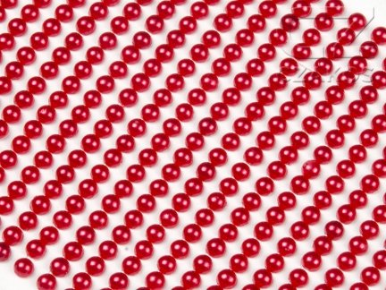 Perełki samoprzylepne 6mm Czerwony [10 Blistrów]