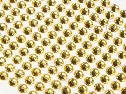 Kryształki samoprzylepne 8mm Żółty [10 Blistrów]