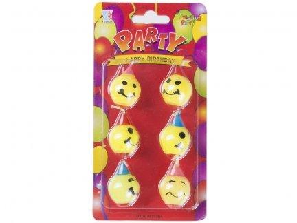 Świeczki Kulki Żółte [Komplet - 12 sztuk]