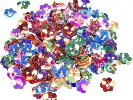 Cekiny Kwiatki 3D Małe 10g [Komplet - 50 Paczek]