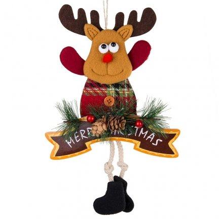 Zawieszka Renifer Merry Christmas 33cm [Komplet - 5 sztuki]