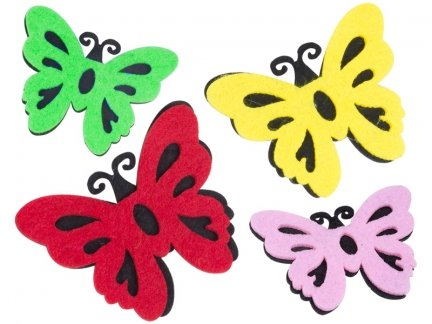 Naklejki z Filcu Motylki Tło [Zestaw- 10 Paczek]