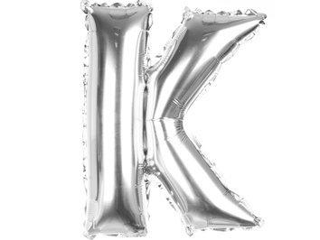 Balony Foliowe Literka K Srebrna 40cm - [ Komplet - 20 sztuk]