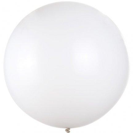 Balon Biały 1m [Komplet - 25 szt]