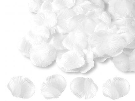 Płatki Róż Białe 100 Płatków [ Zestaw - 50 Paczek]