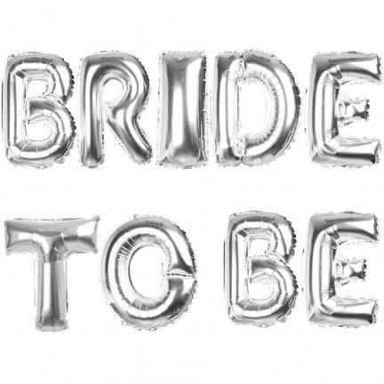 Balony Foliowe Bride To Be Srebrne [Komplet 5szt]