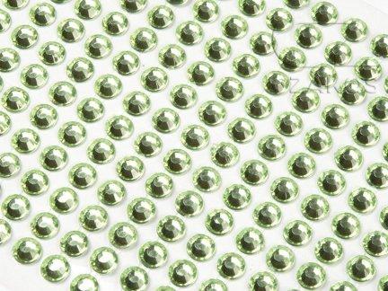 Kryształki samoprzylepne 6mm Zielony [10 Blistrów]