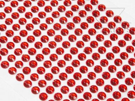 Kryształki samoprzylepne 6mm Czerwony [10 Blistrów]